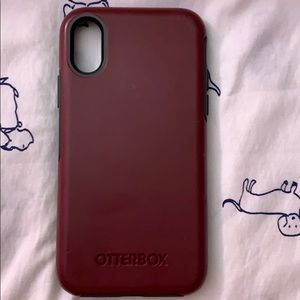 OtterBox NEW Never Used Iphone X phone case Maroon